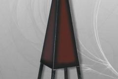 №9 Пирамида фазер с дървена конструкция ( червена и бордо)